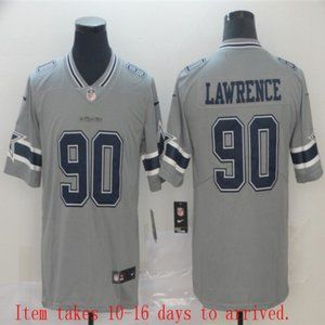 Cowboys #90 Demarcus Lawrence Jersey Inverted